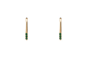 Emerald Ear Climber Earrings