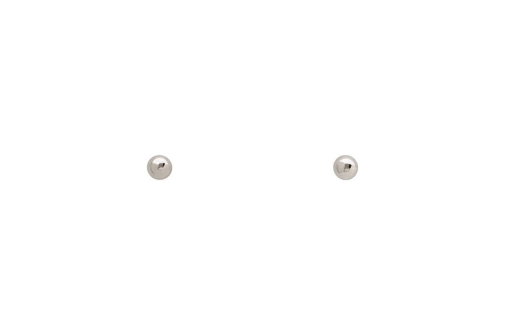 14k Tiny White Gold Dot Stud Earrings E2270