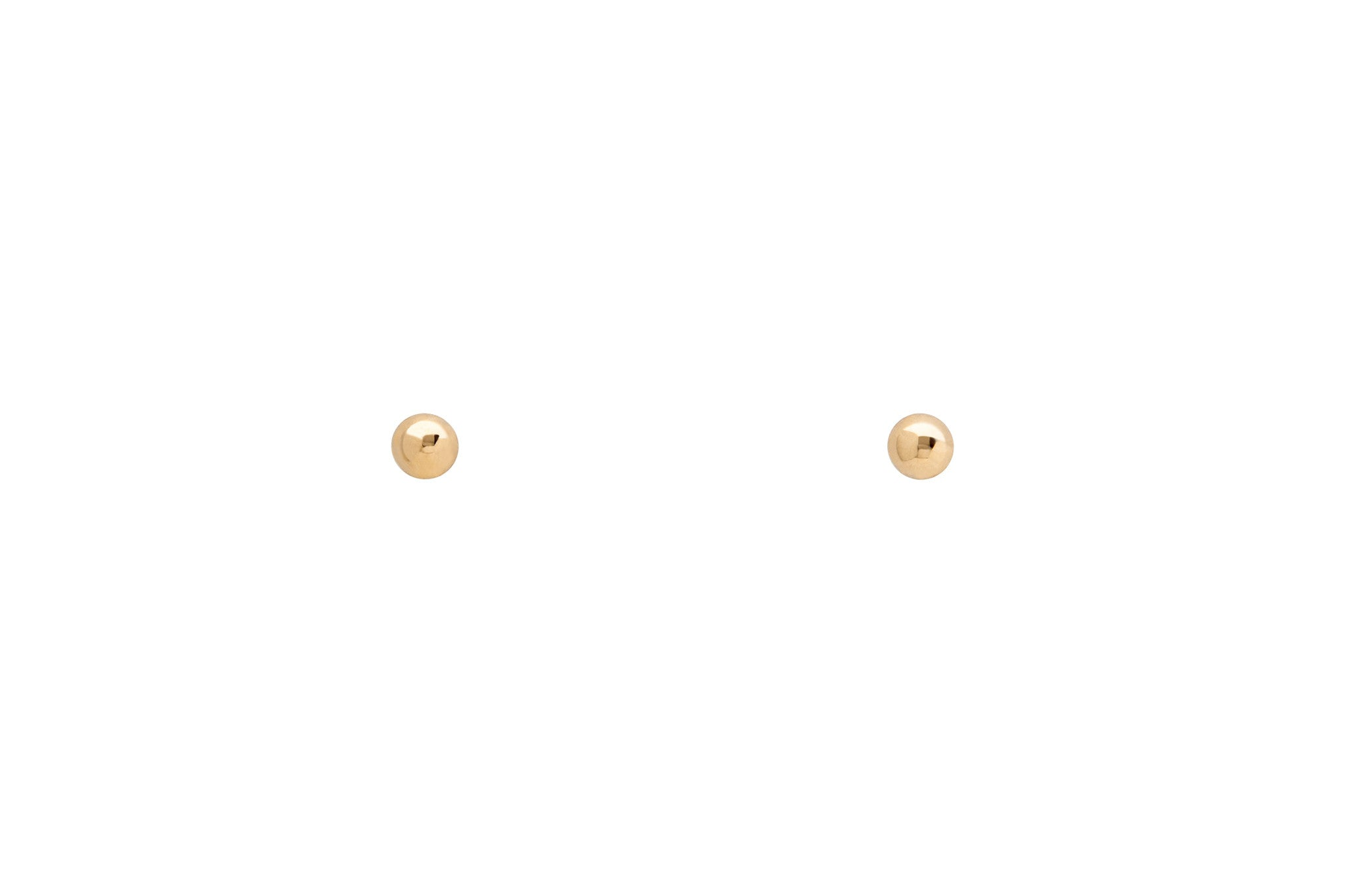 14k Tiny Yellow Gold Dot Stud Earrings E2270