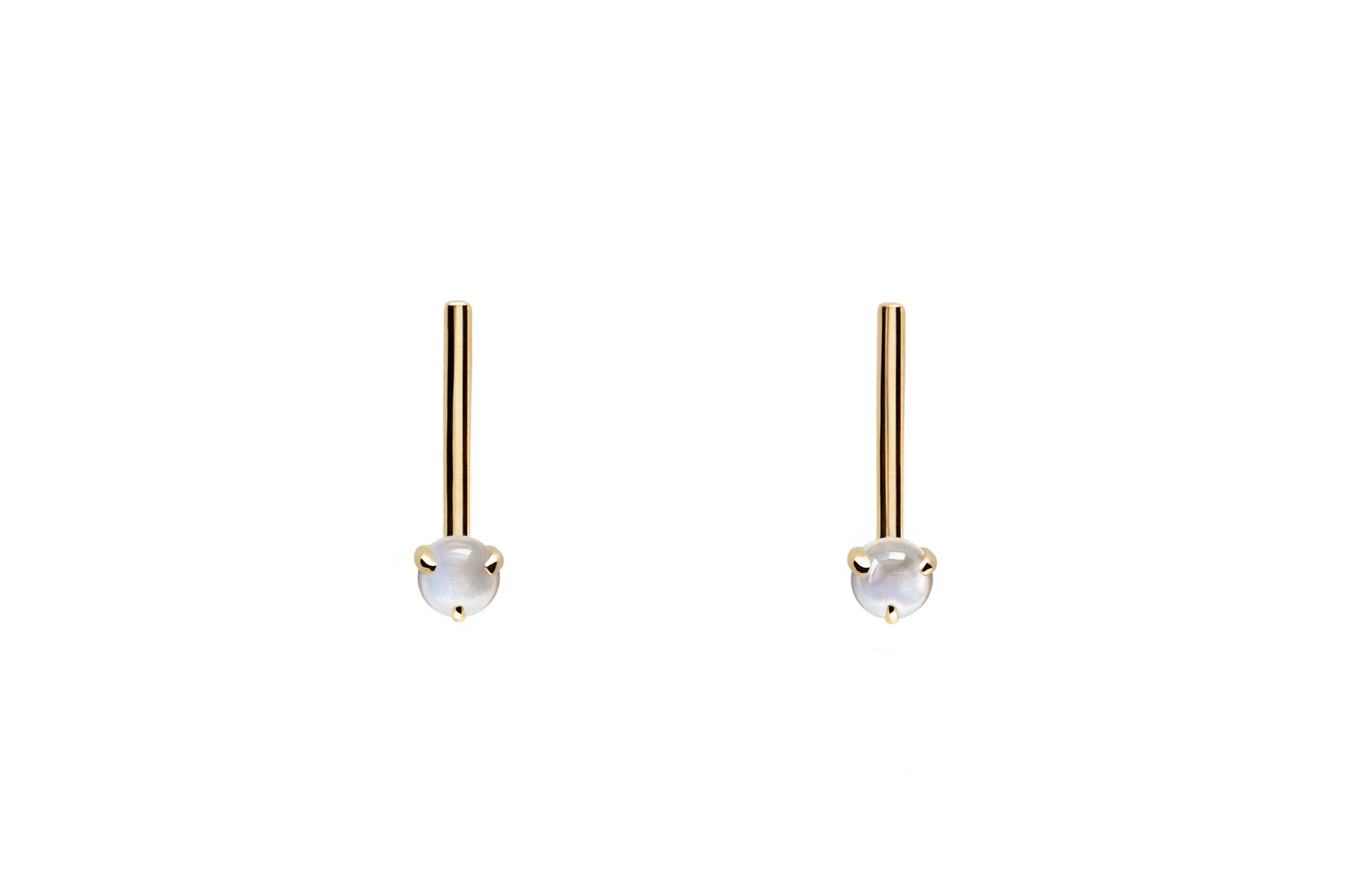 Moonstone Bar Stud Earrings E2284