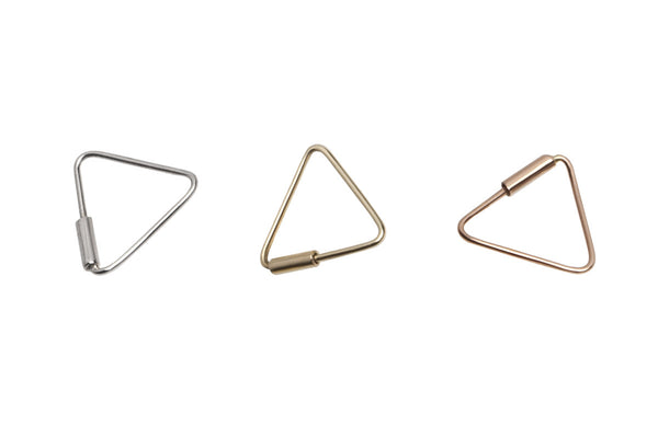 Tiny Golden Triangle Hoop Earrings