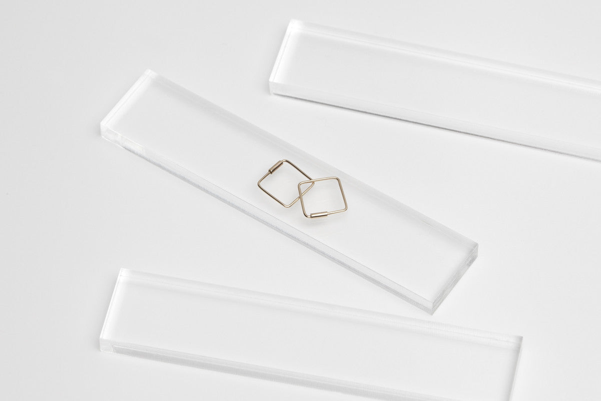 Tiny Endless Square Hoop Earrings