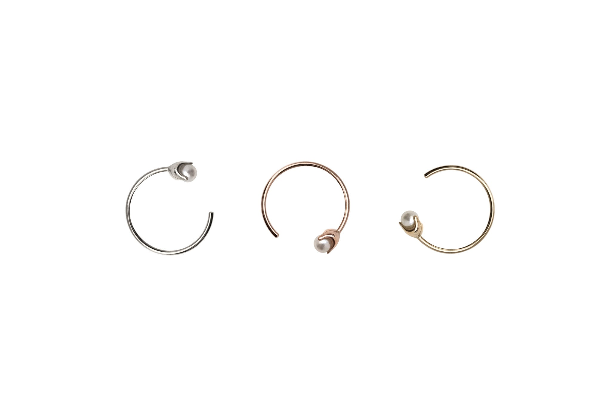 Tiny Pearl Hoop Earrings E2332
