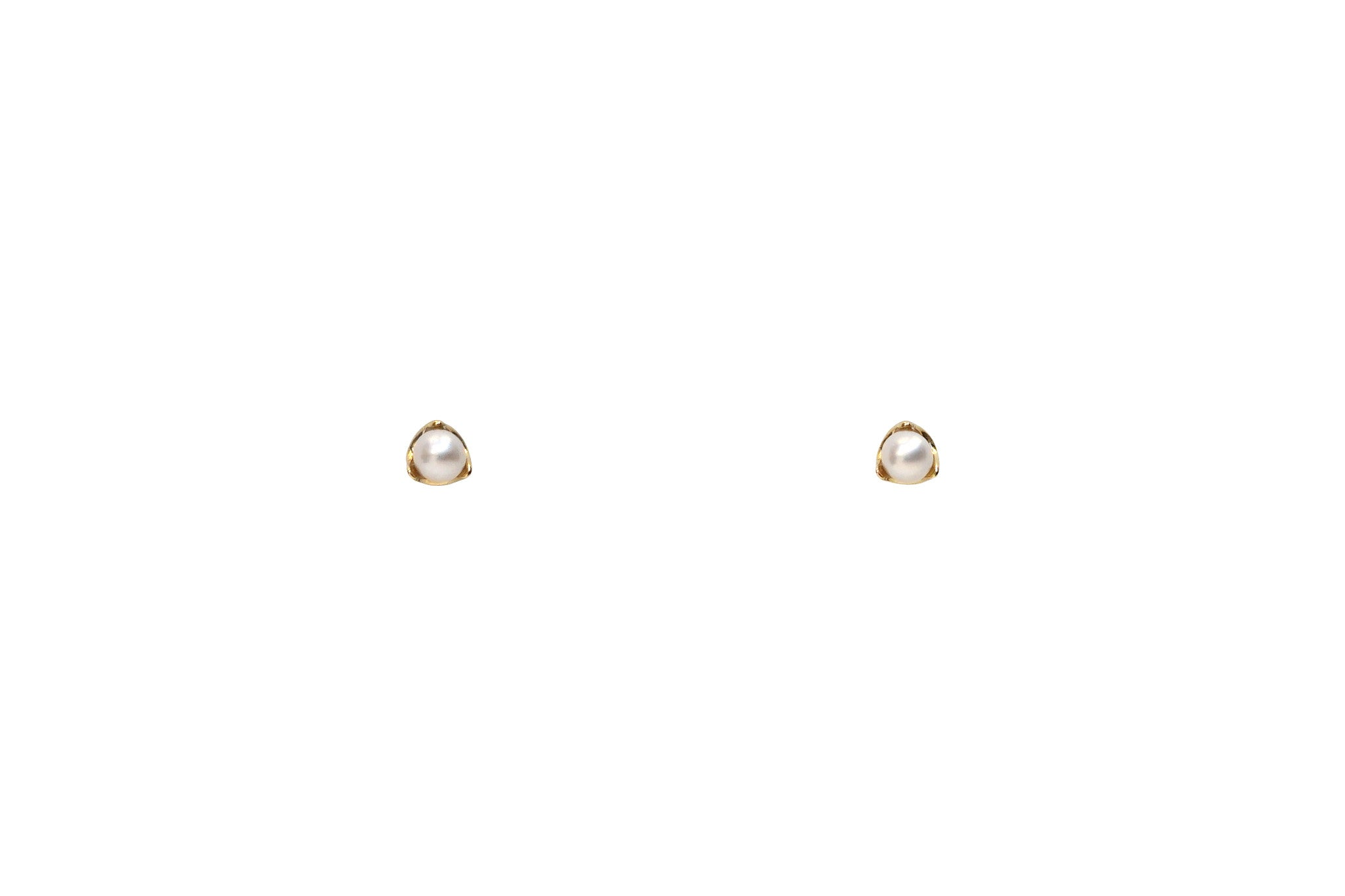 14k Gold Micro Tiny Pearl Stud Earrings E2334