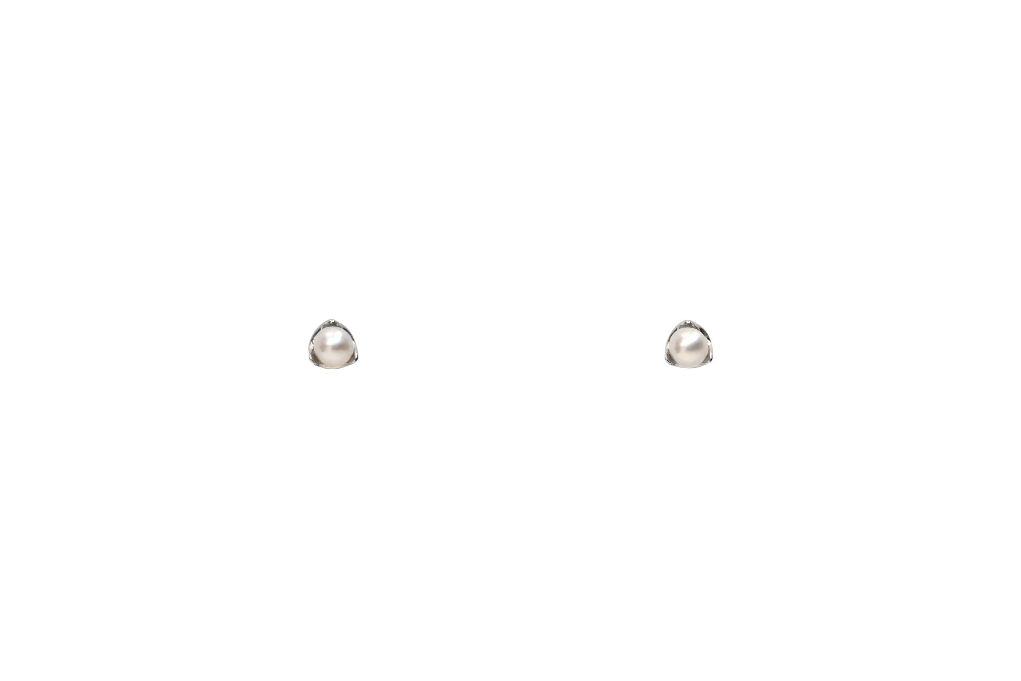 Sterling Silver Tiny Pearl Stud Earrings