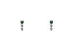 Petite Emerald and Diamond Stud Earrings