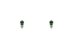 Emerald and Diamond Duo Stud Earrings