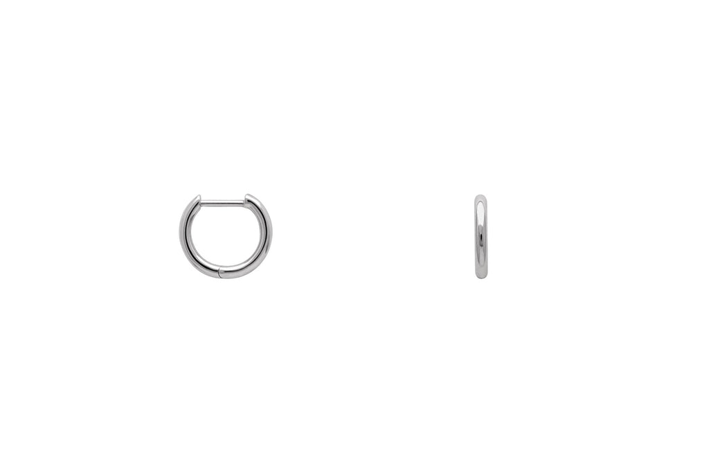 Platinum Tiny Hoop Earrings