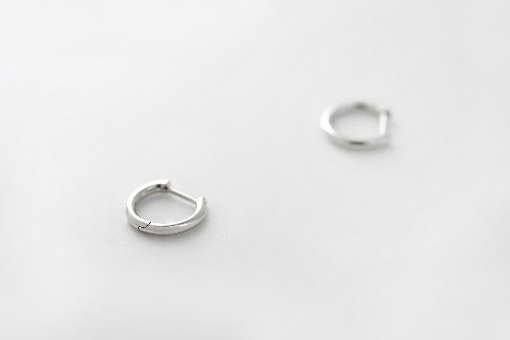 Tiny Platinum Hoop Earrings