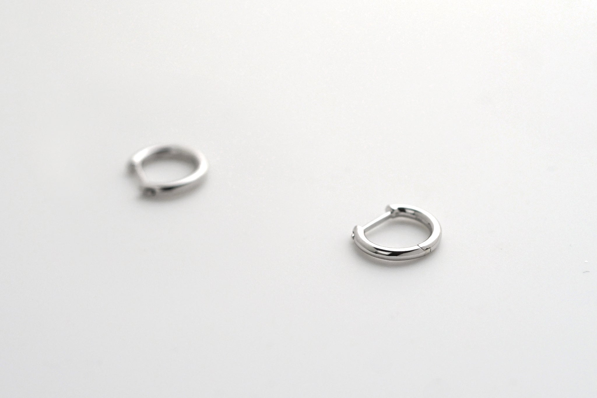 Sterling Silver Tiny Hoop Earrings