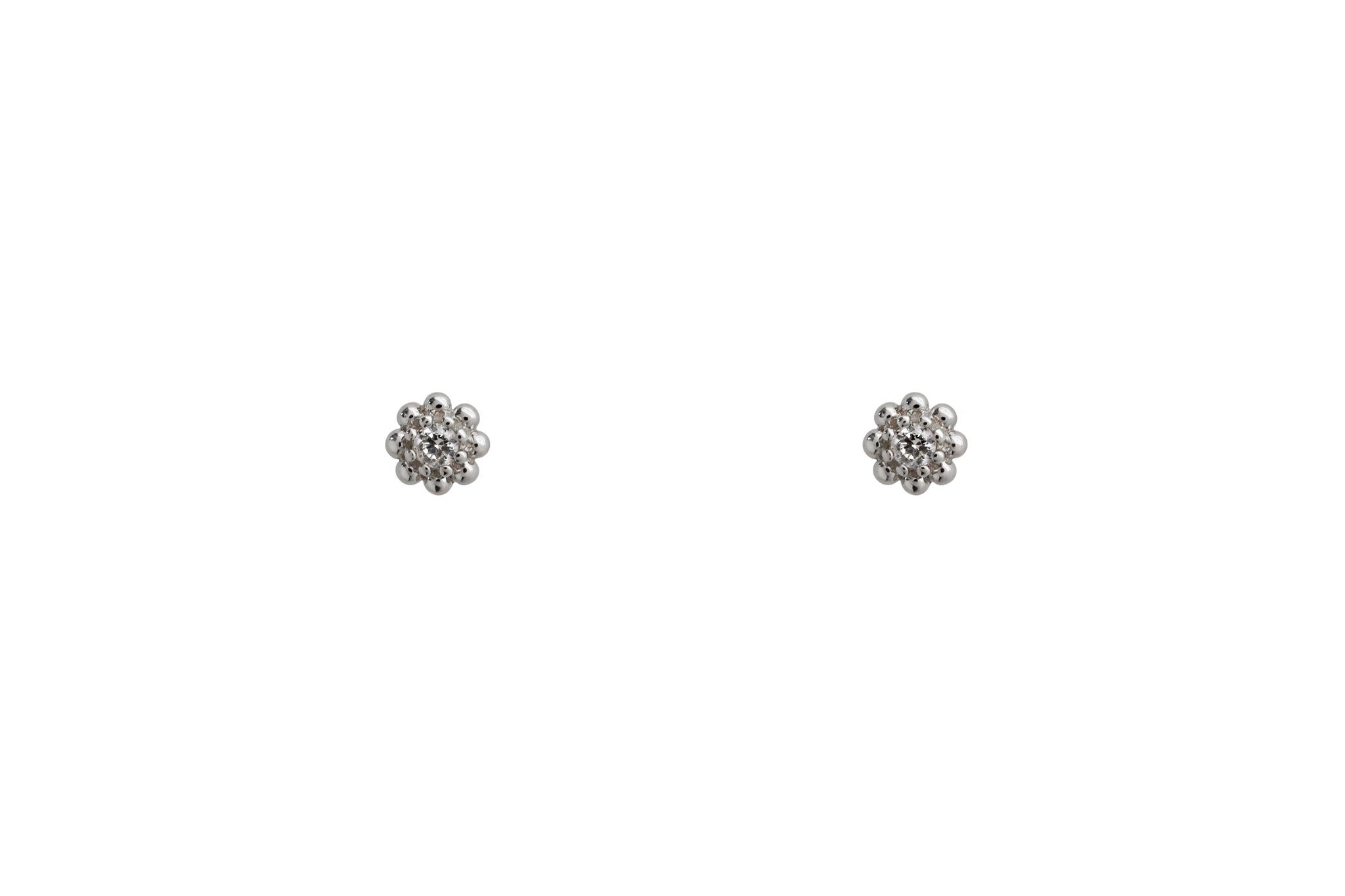 Sterling Silver Aster Earrings