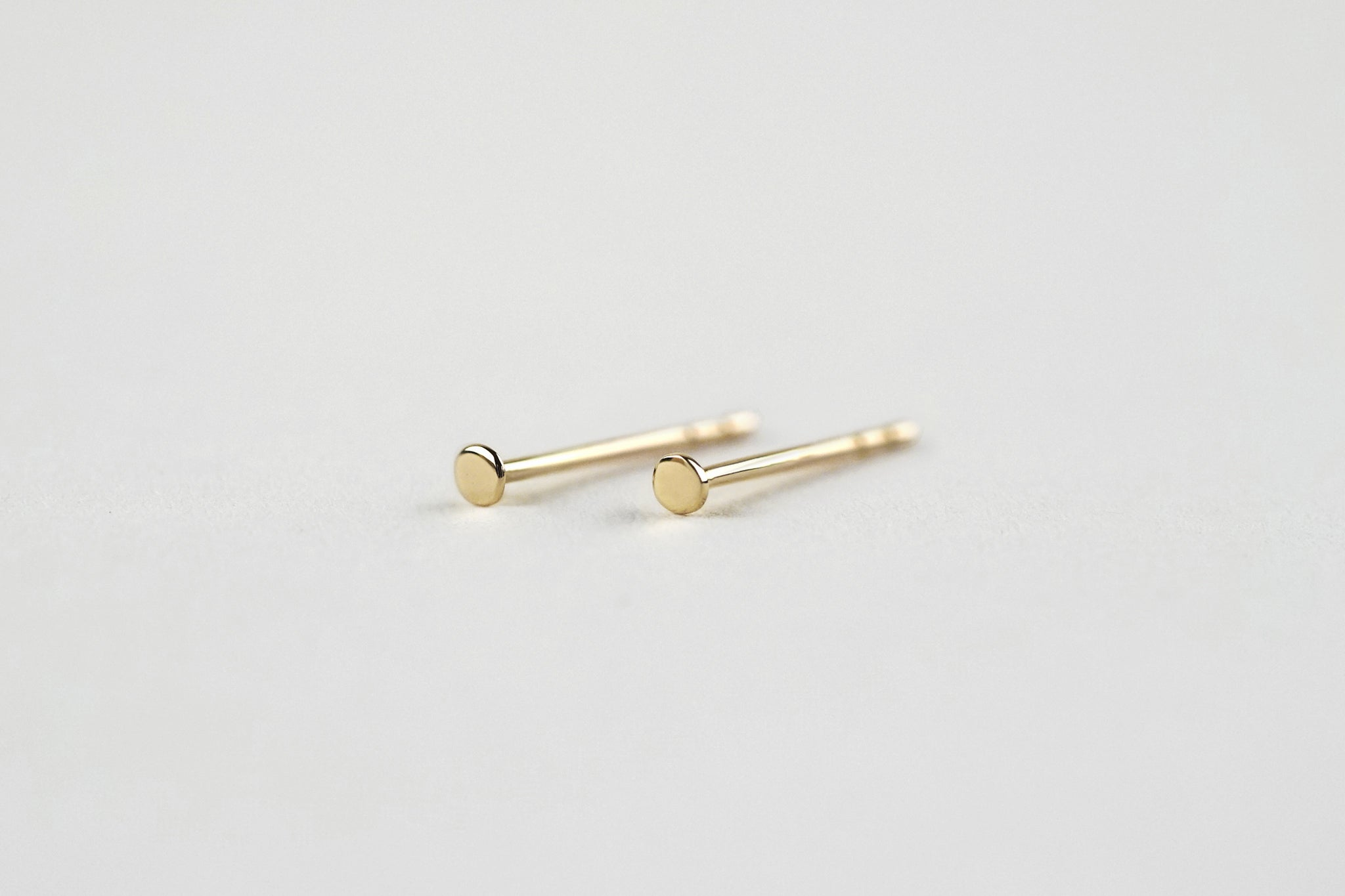 Tiny Flat Dot Stud Earrings