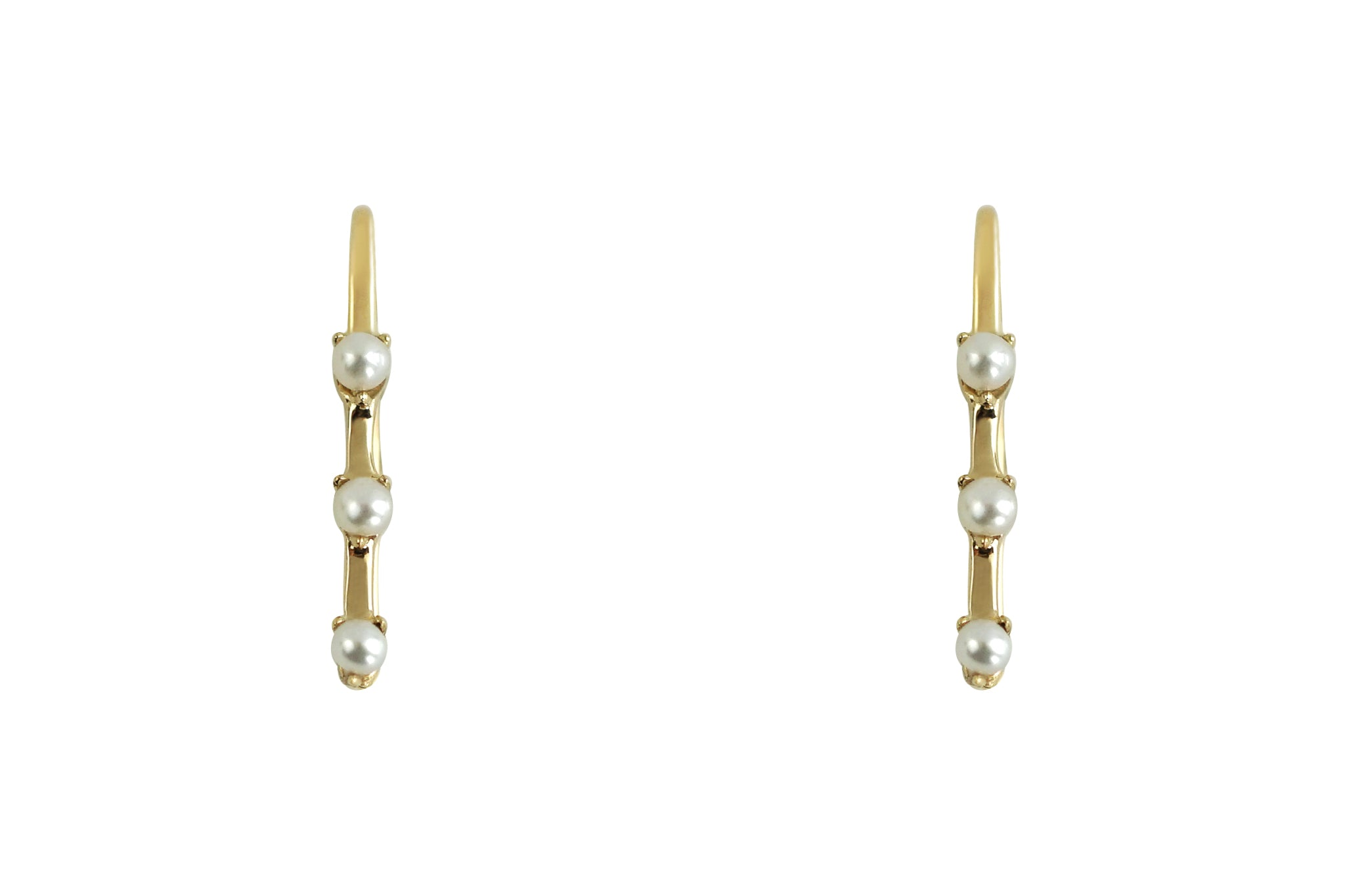 Pearl Riviera Ear Climber Earrings