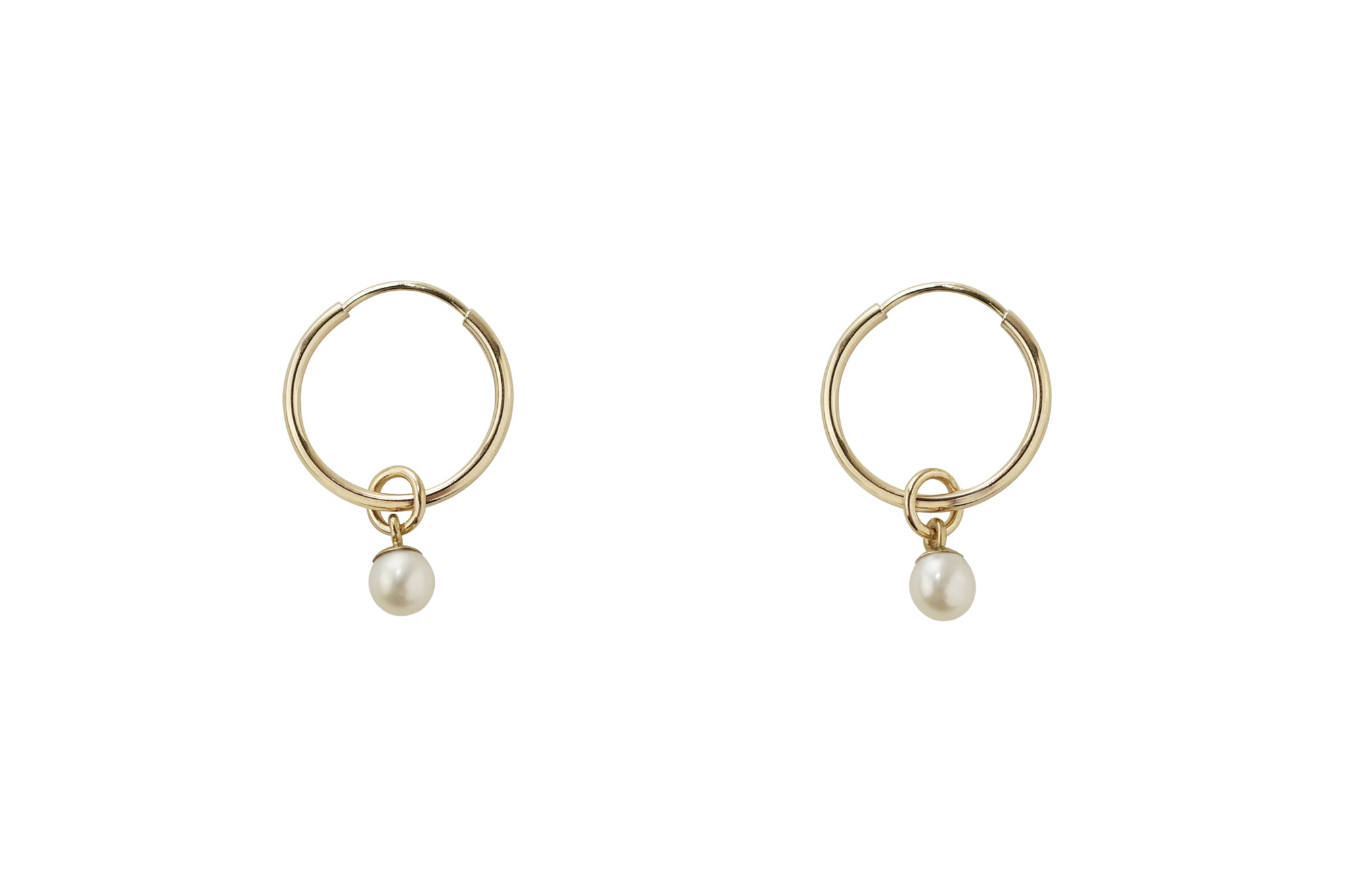 Dainty Pearl Hoop Earrings