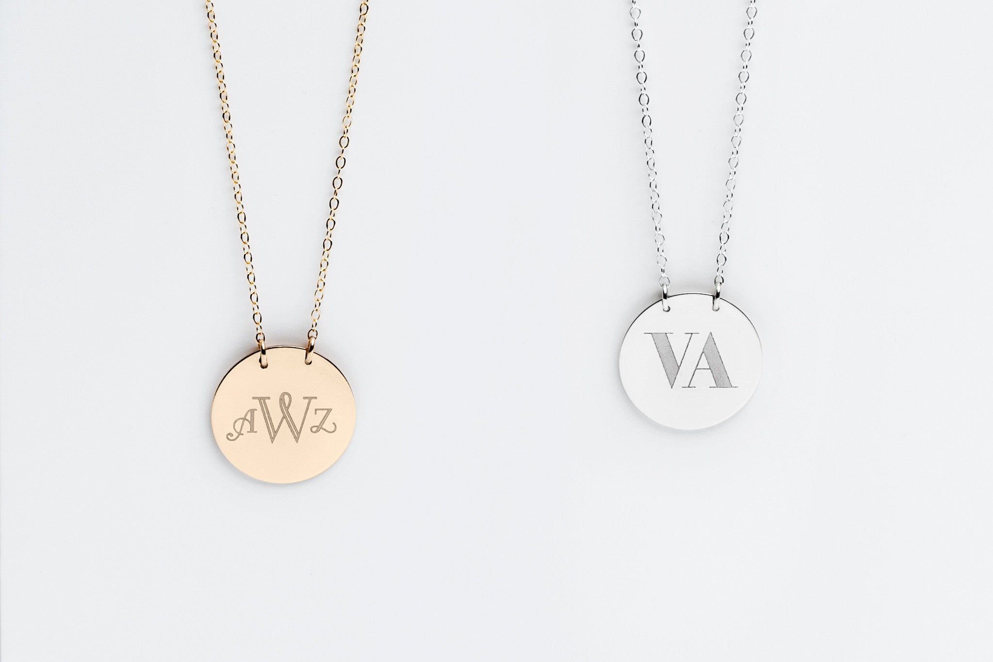 Signature Monogram Charm Necklace - 3/4in.