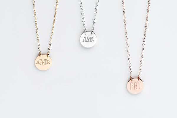 Signature Monogram Charm Necklace - 1/2in.