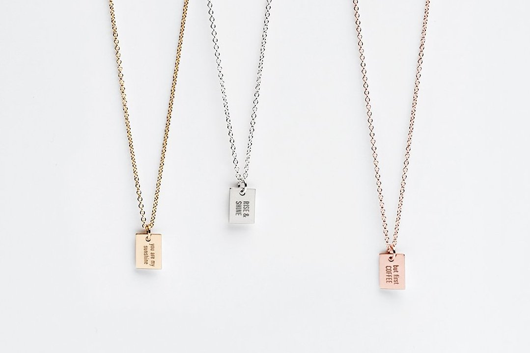 Say Anything Personalized Charm Necklace