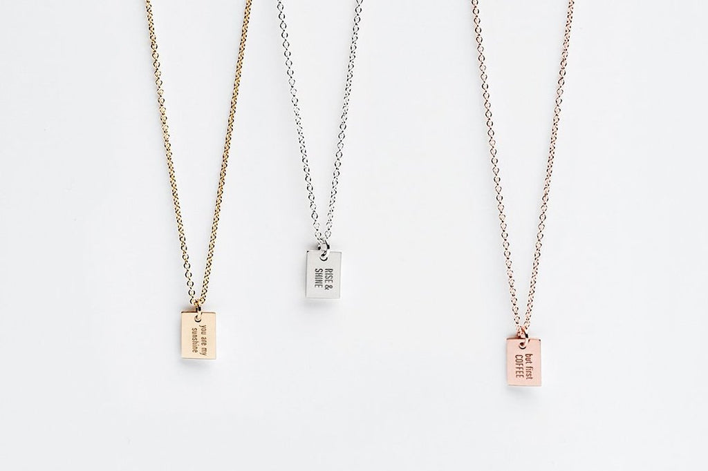 Say Anything Message Charm Necklace