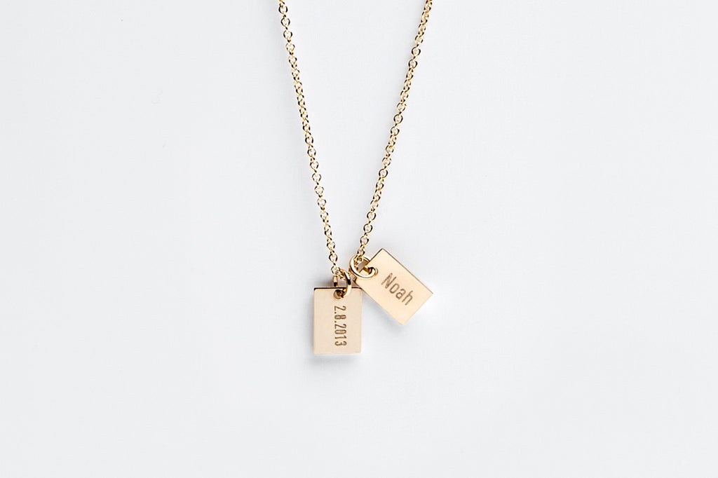 Say Anything Personalized Double Gold Charm Necklace