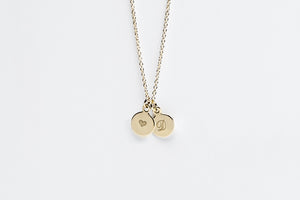 14k Gold Filled Personalized Double Initial Charm Necklace