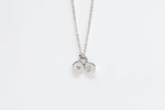 Sterling Silver Double Disc Initial Necklace