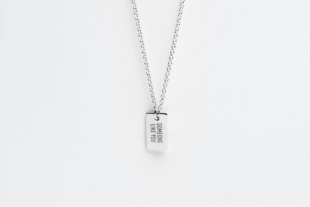Sterling Silver Secret Message Charm Necklace