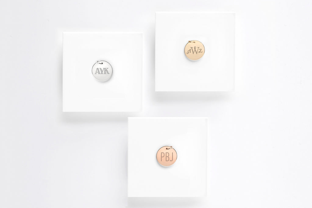 Signature Monogram Charm Pendant - 1/2 in.