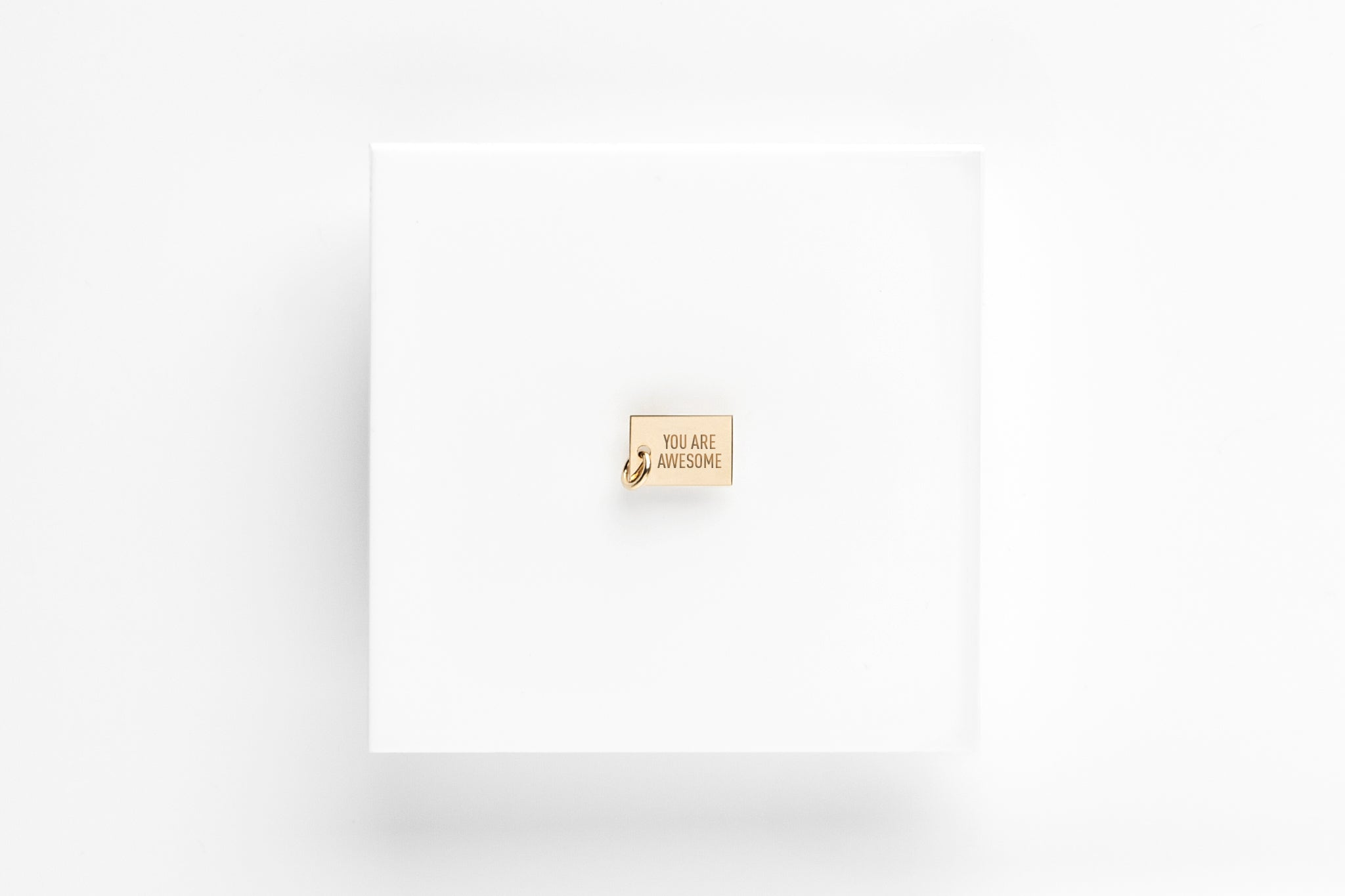 Say Anything Gold Link Necklace