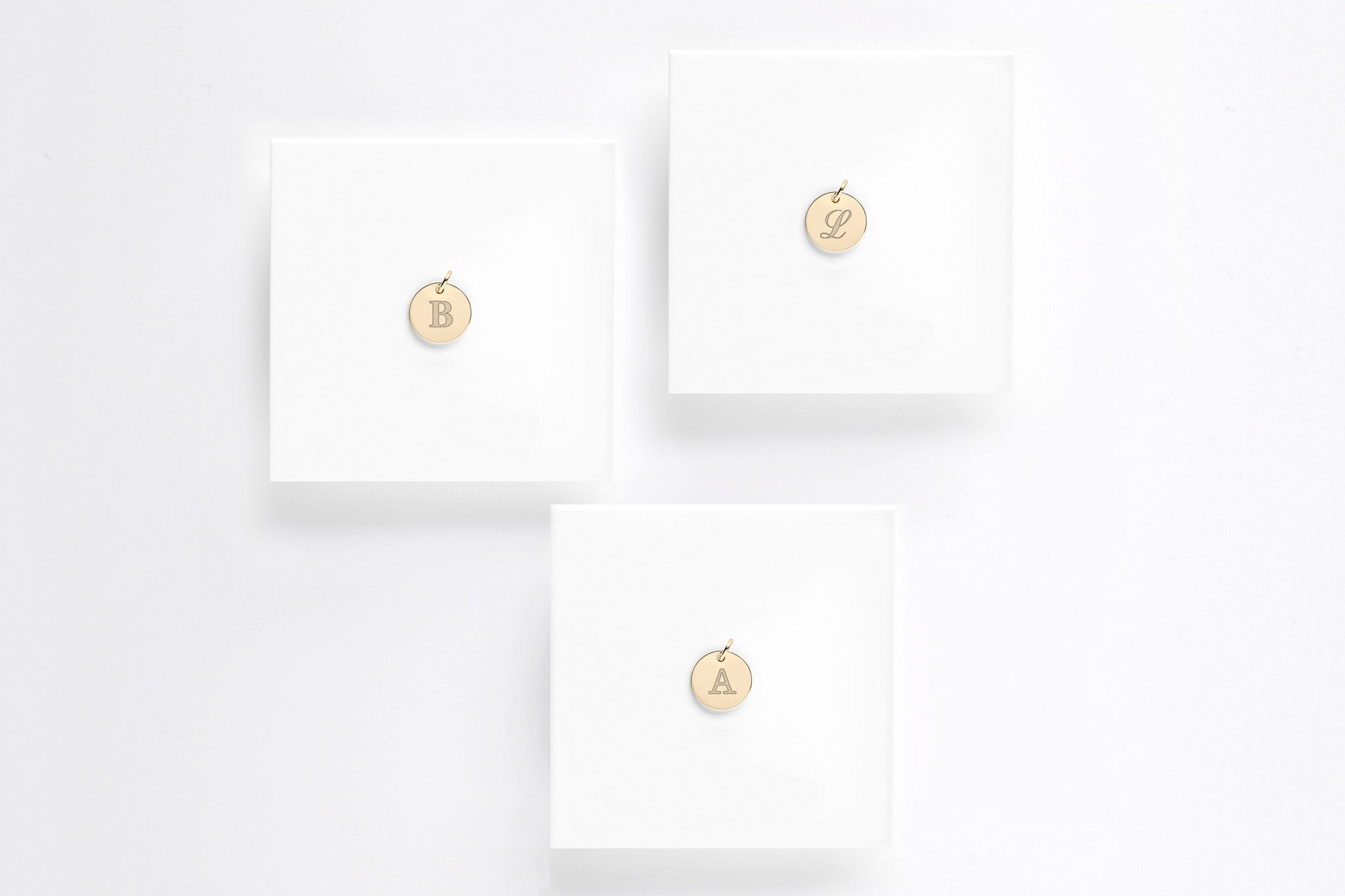 Small Gold Disc Personalized Initial Charm