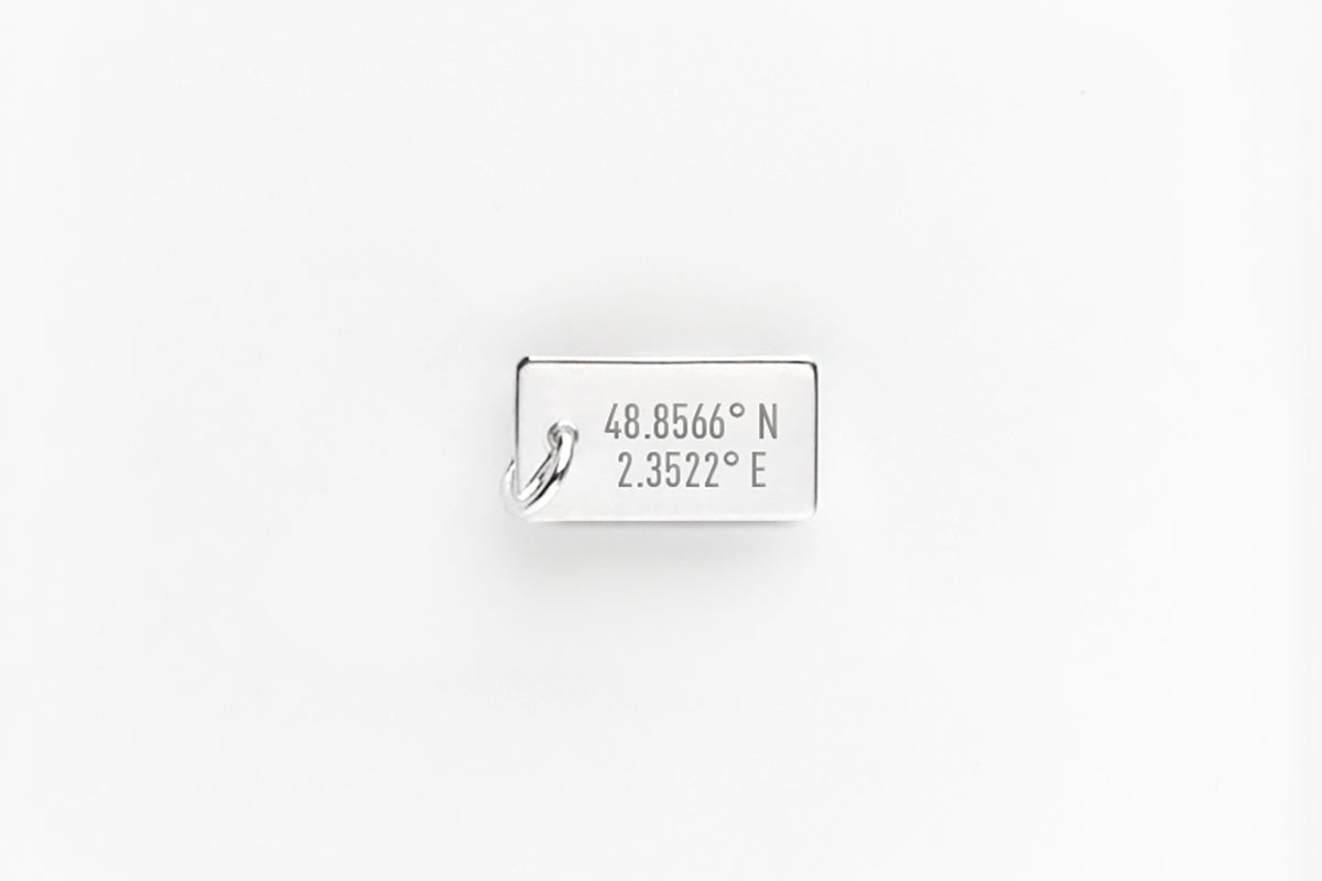 Sterling Silver Personalized Secret Message Charm