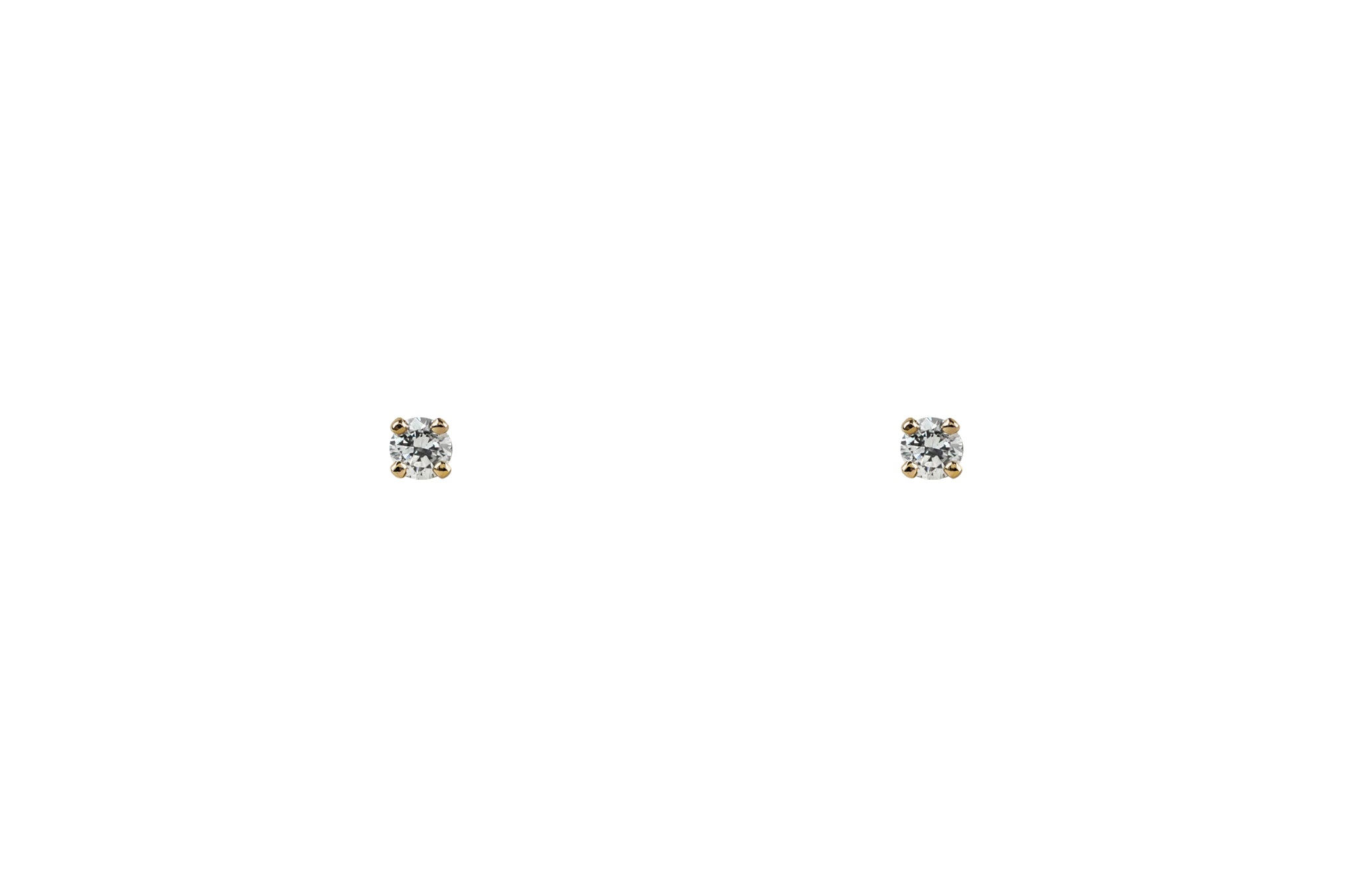 14k Gold Tiny Diamond Earrings
