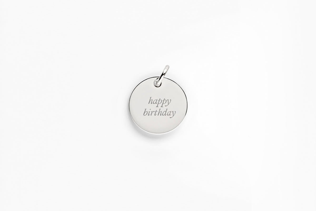 Sterling Silver Custom Message Charm