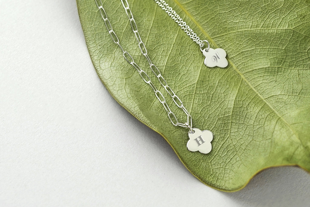 Tiny Silver Clover Necklace