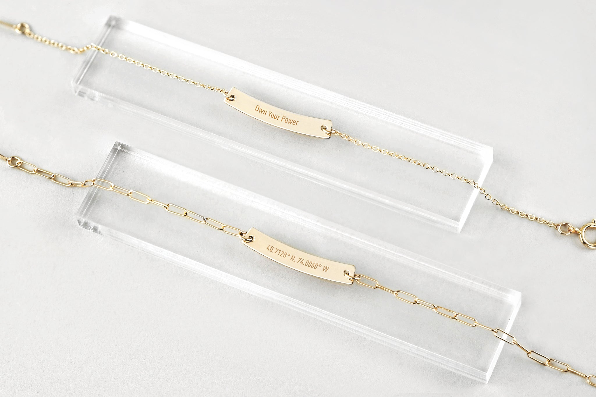 Personalized Mini Gold Bar Bracelet