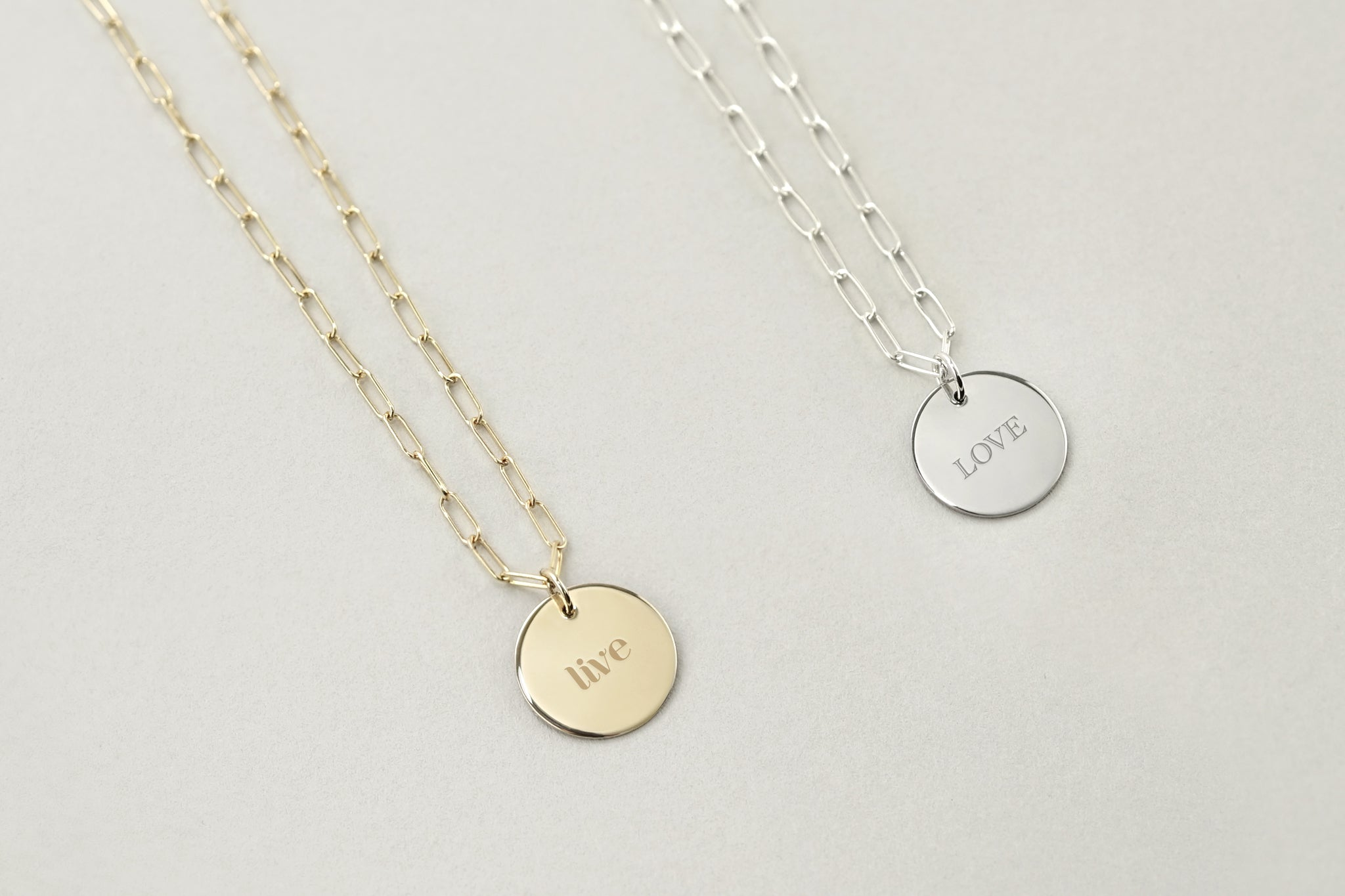 Everyday Engravable Charm Necklace