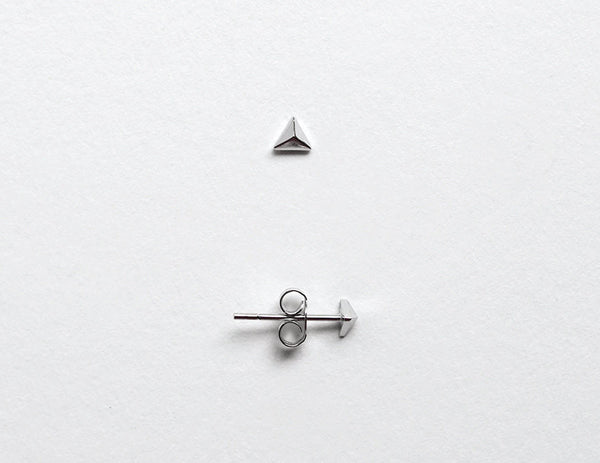 Tiny Triangle Stud Earrings LITTIONARY