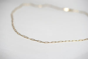 Dainty Gold Link Layering Necklace