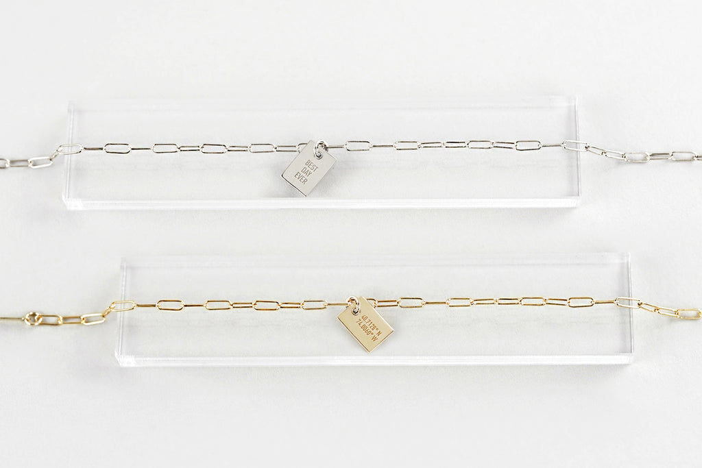 Say Anything Charm Link Bracelet