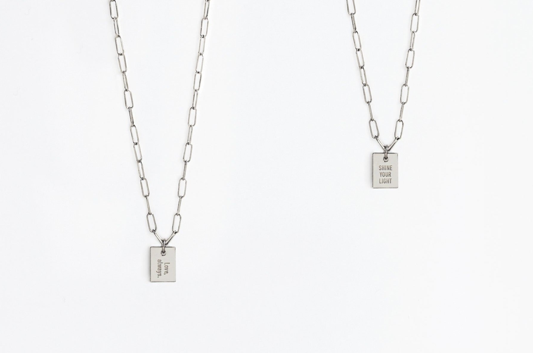 Say Anything Sterling Silver Link Necklace