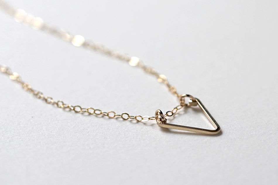 You Are A Gem Open Triangle Necklace