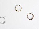 Tiny Golden Circle Hoop Earrings