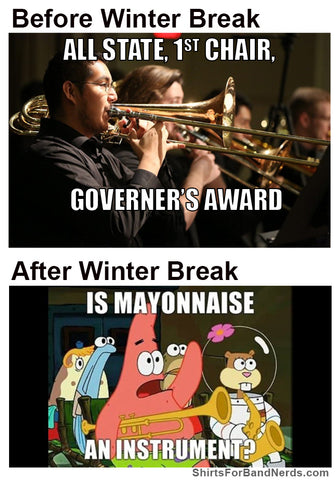 funny winter break before and after