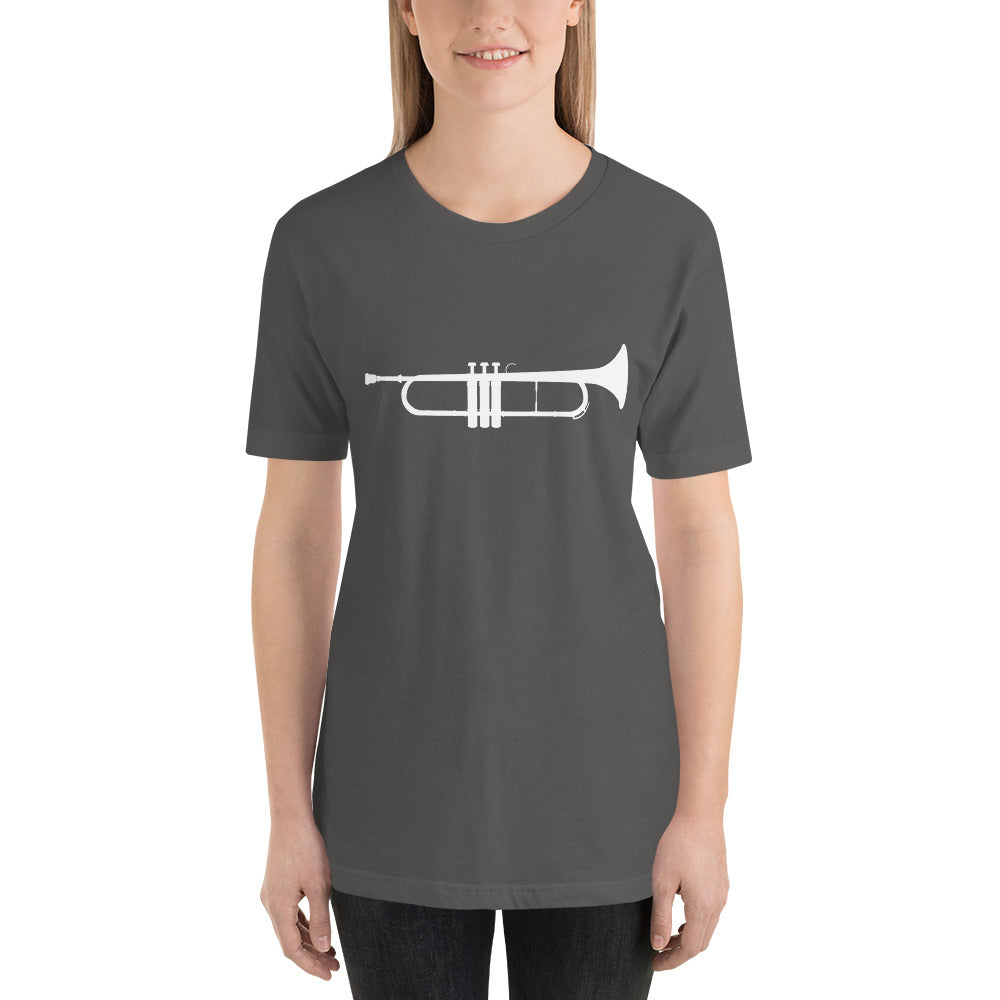 Just a Trumpet (White) - Trumpet Band Nerd Shirt