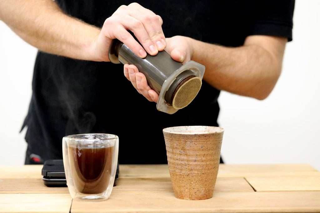 Aeropress Dispense of Coffee Grounds