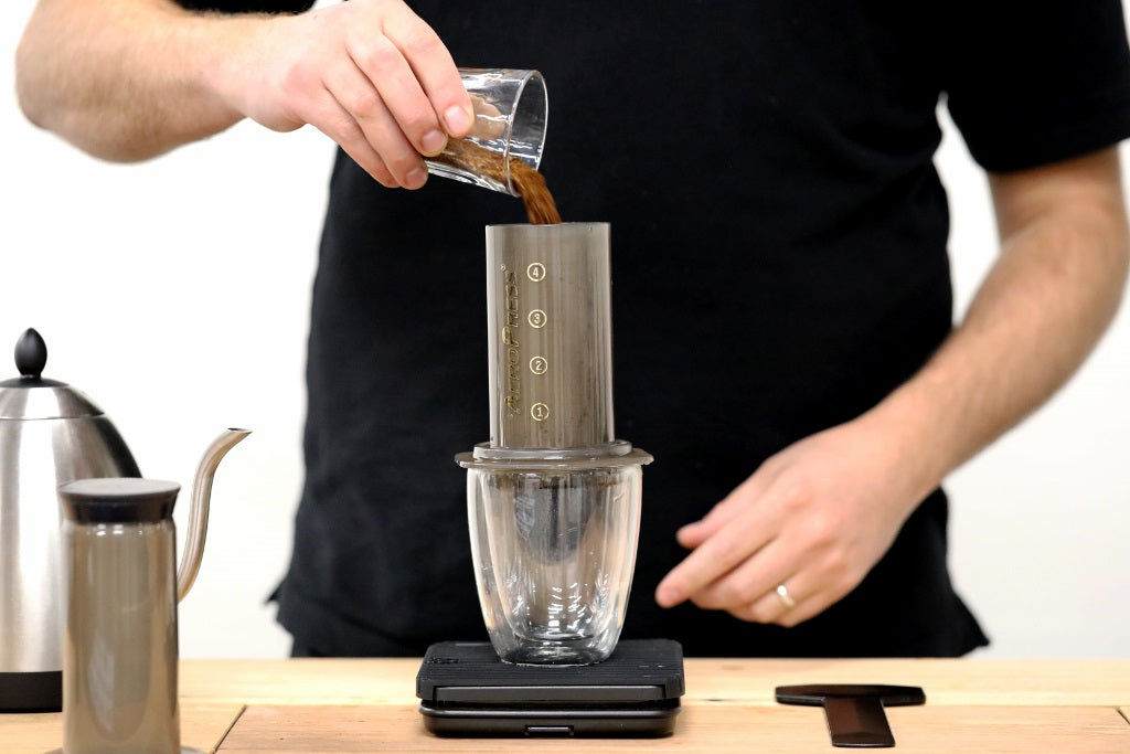 Add Coffee to Aeropress