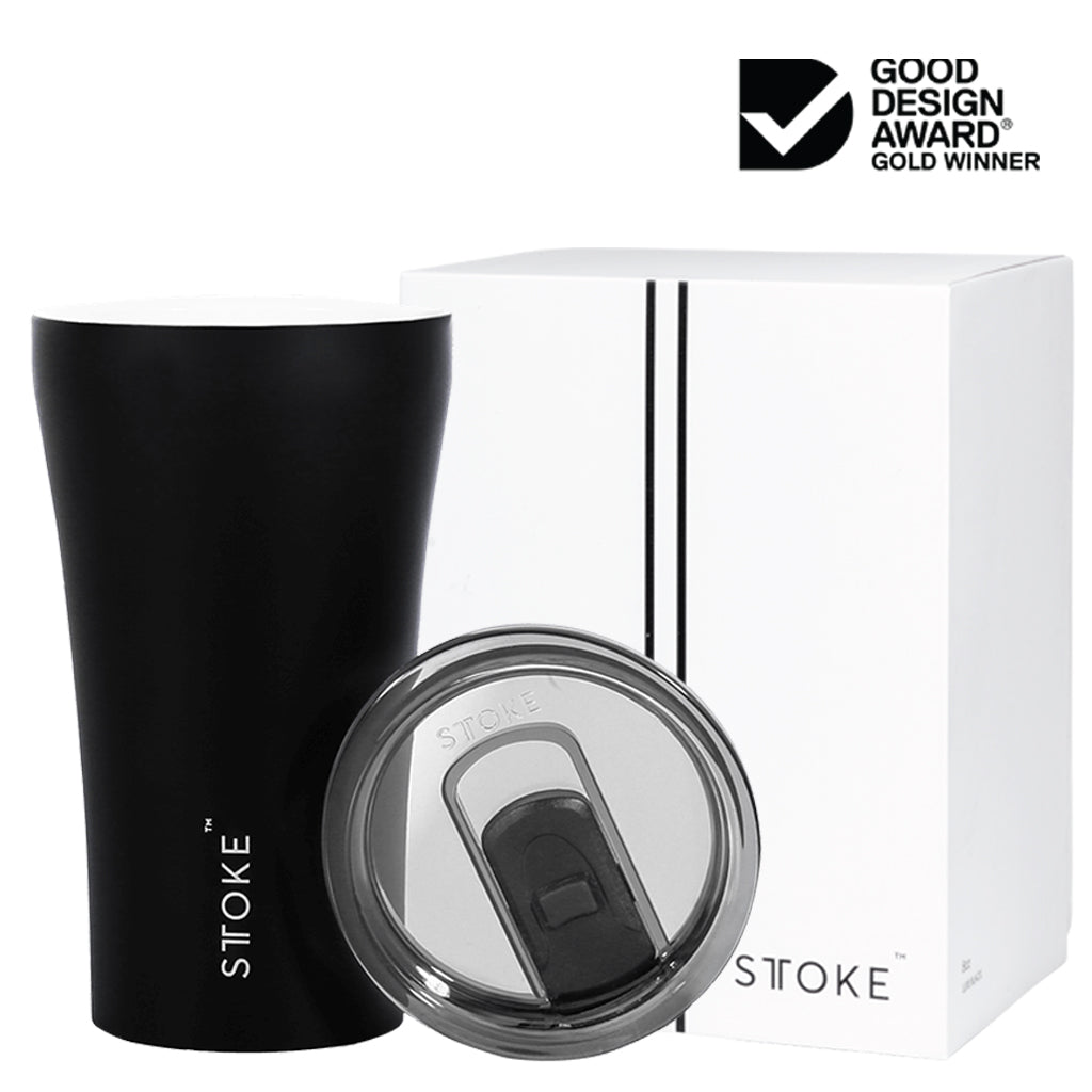 Sttoke Reusable Cup 12oz Black