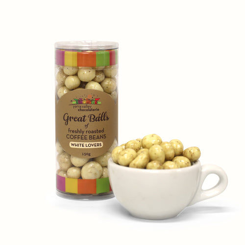 Chocolate Coated Coffee Beans - White