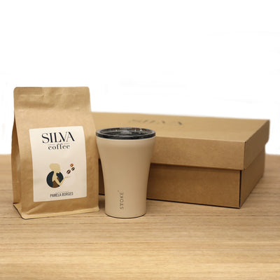 Gift Pack - 'Flowers In Action' Coffee and Sttoke Cup
