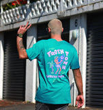 Tropical Froth Blue Tee