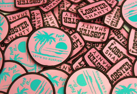 Flamingo Lobster Patch Pack
